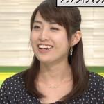 佐藤渚アナウンサーの前歯の画像(Vの字前歯)