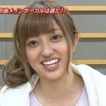 菊地亜美さんの前歯の画像(被せ物・差し歯)