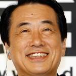 菅直人元首相の前歯の画像(メタルボンド)