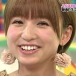 篠田麻里子さんの前歯の画像(矯正&差し歯)