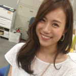 笹川友里アナウンサーの前歯の画像(歯列矯正)