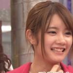 畠中清羅さんの前歯の画像(ビーバー歯)