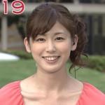 加藤真輝子アナウンサーの前歯の画像(中切歯のズレ)