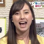 加藤シルビアアナウンサーの前歯の画像