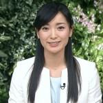 大江麻理子アナウンサーの前歯の画像