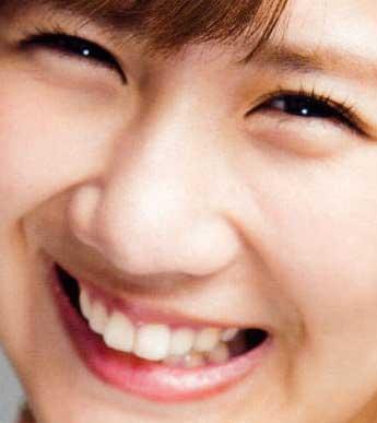 岡井千聖の前歯の写真