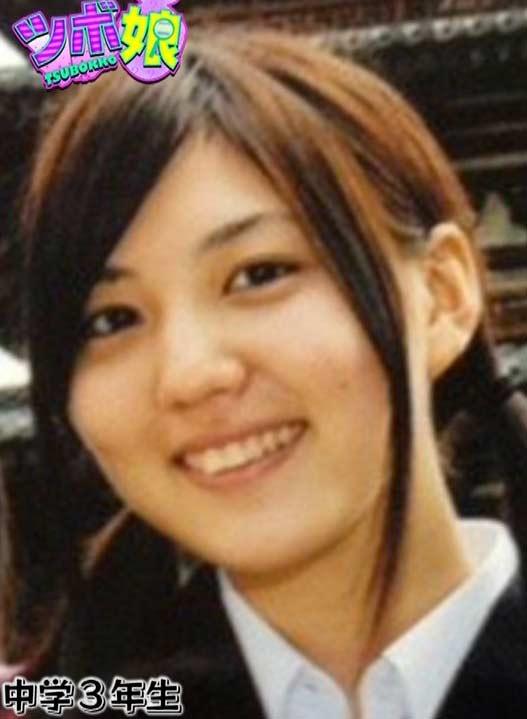 岩崎名美 中学3年生時代の写真