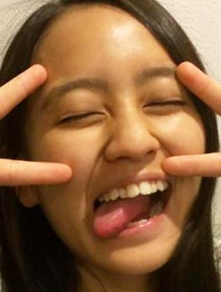 岡田結実 前歯の写真