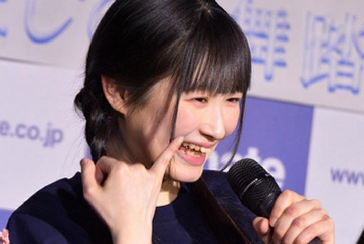 会沢紗弥さんの前歯や歯並び(歯...