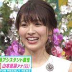 山本里菜アナウンサーの前歯や歯並びを評論(捻転歯)